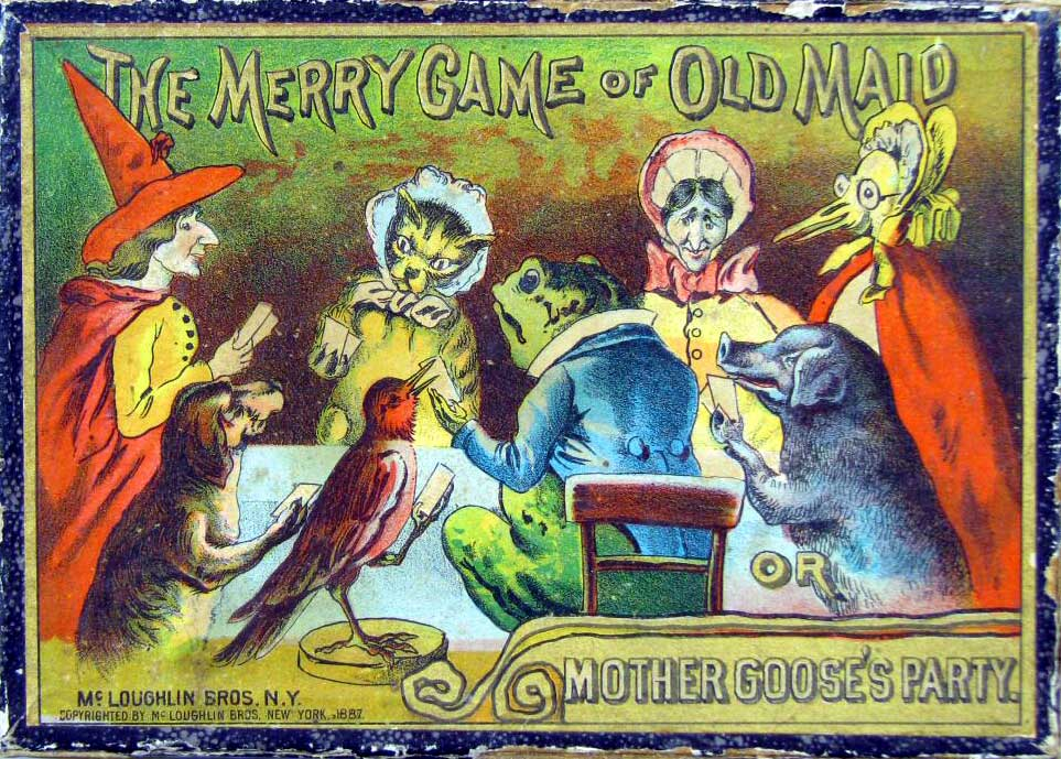 Mother Goose's Party, or Merry Game of Old Maid, McLoughlin Bros., Inc., USA, 1887