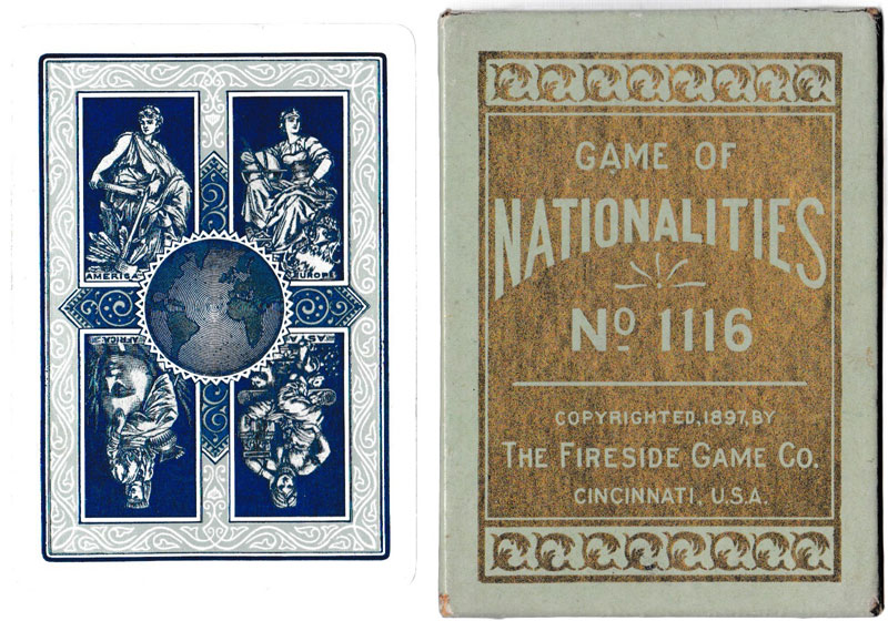 """Nationalities"", the people of many nations, published by the Fireside Game Co., Cincinnati, Ohio, c.1897"