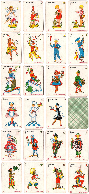 """""""Schwarzer Peter"""" card game published by Vereinigte Altenburger und Stralsunder Spielkarten-Fabriken A.G., Stuttgart"""