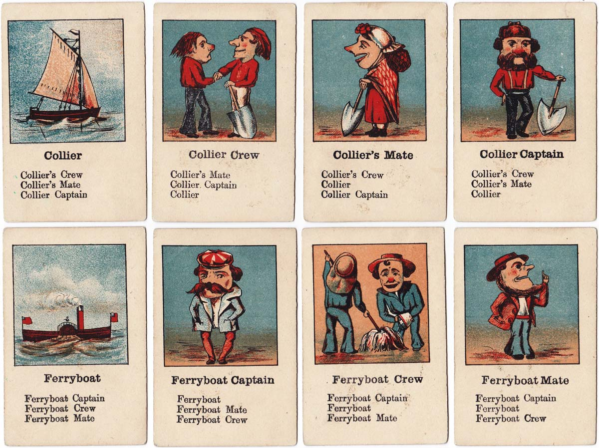 """Ship Sails"" card game c.1885"