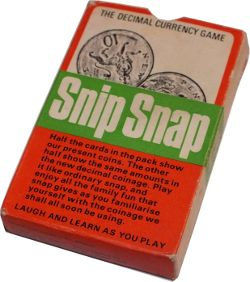 Snip Snap, the Decimal Currency Game box