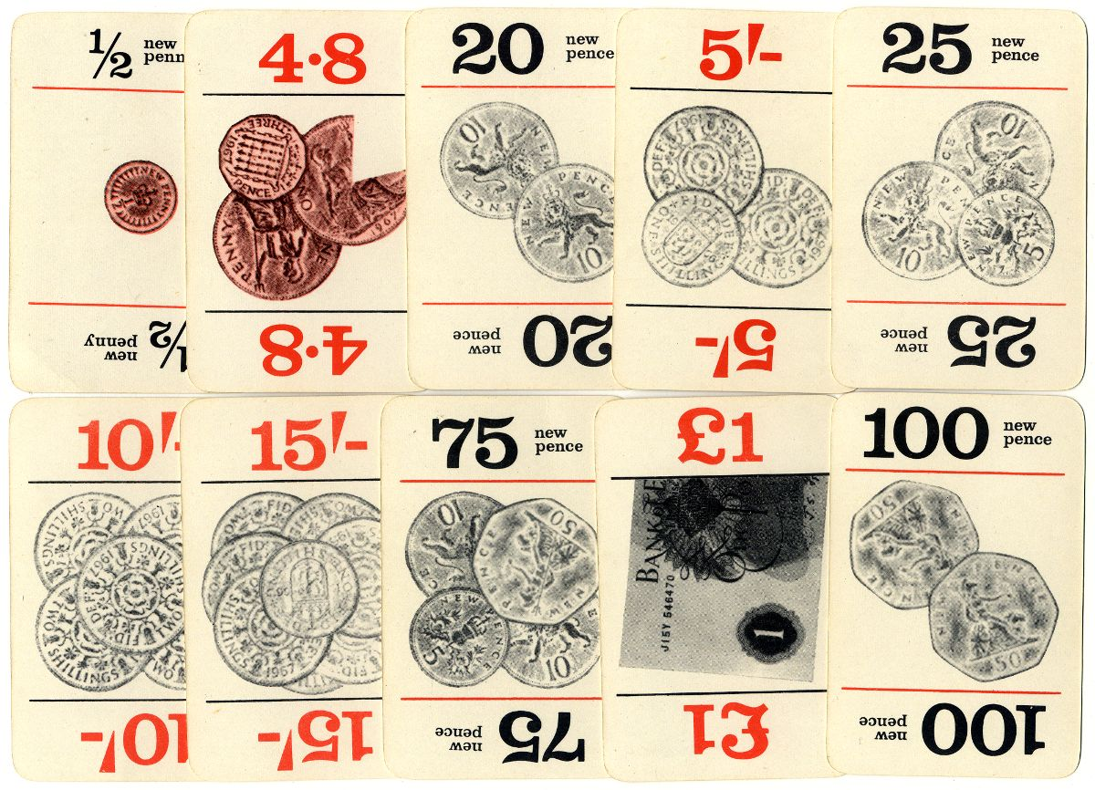 Snip Snap, the Decimal Currency Game, 1968