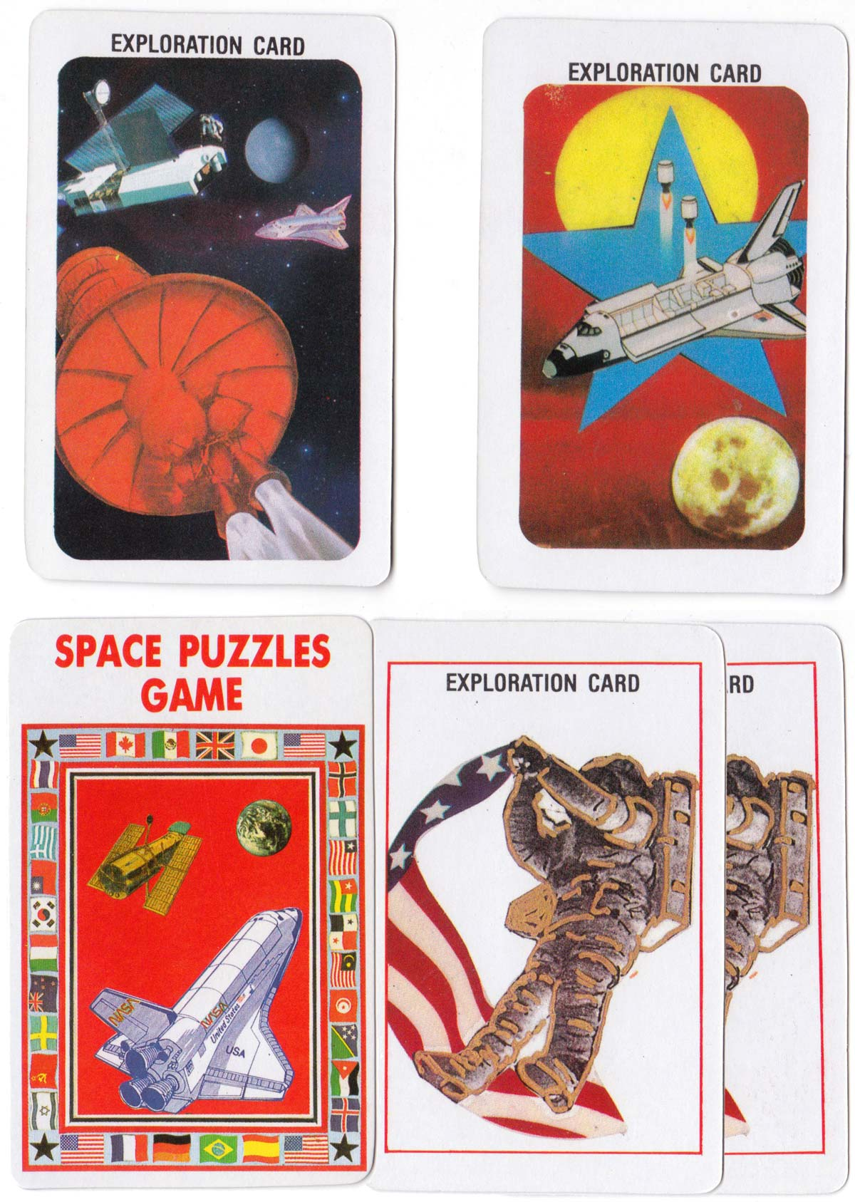 The Space Puzzles Game published by Gametoy Development Co., Inc, Orlando, FL, 1991