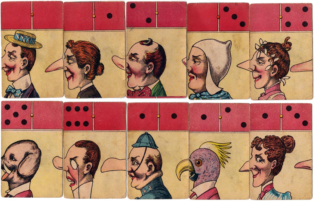 Comical Dominoes game manufactured in Germany by J. W. Spear & Sons, early 1900s