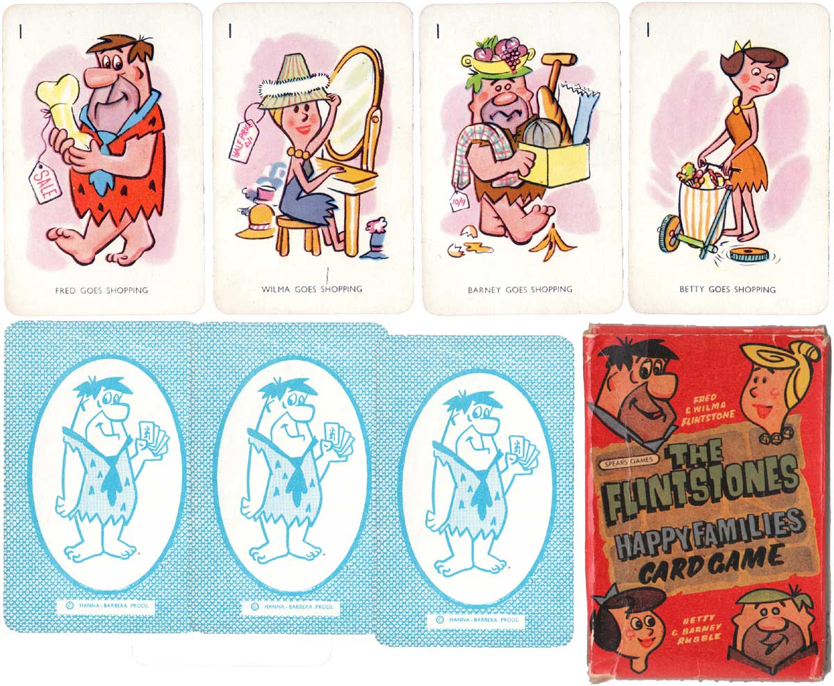 Flintstones Happy Families by J. W. Spear and Sons, c.1960