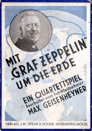 """""""Graf Zeppelin Round the World Flight"""" Quartet Game, 1930"""