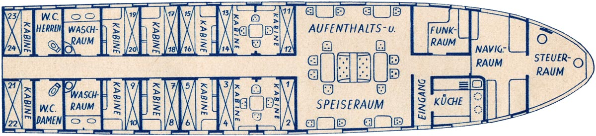 The Graf Zeppelin deck plan