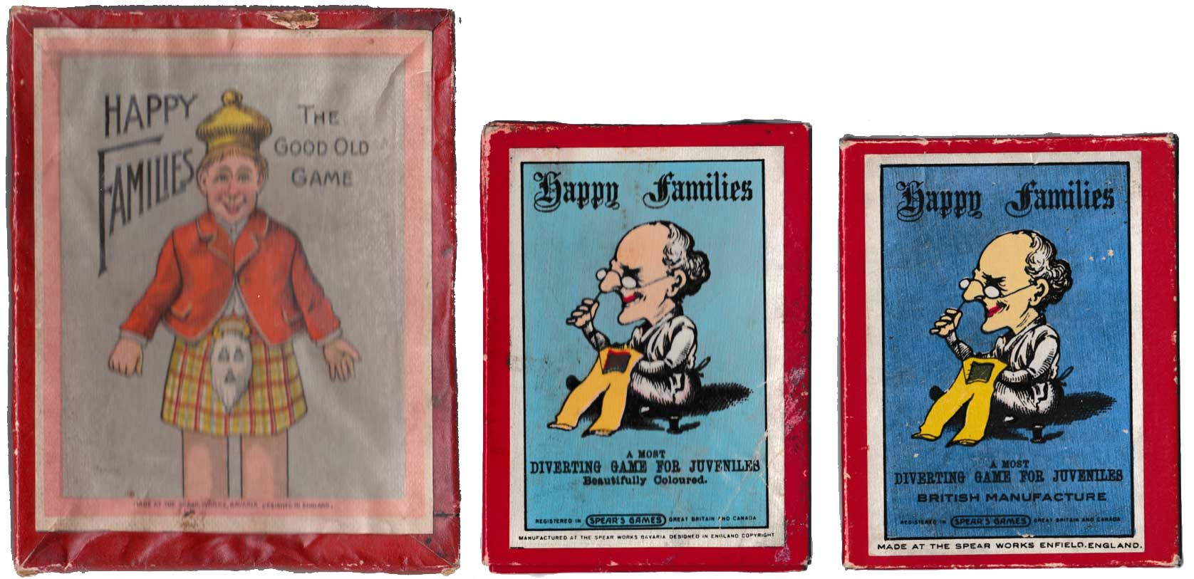 Spears Happy Families boxes c.1930-1950