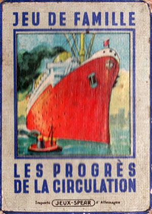 """Jeu de Famille """"Le Progrès de la Circulation"""" - 1933"""