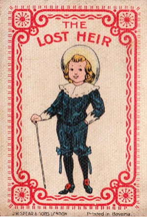 """The Lost Heir"" first issued by J. W. Spear and Sons in UK in 1912"