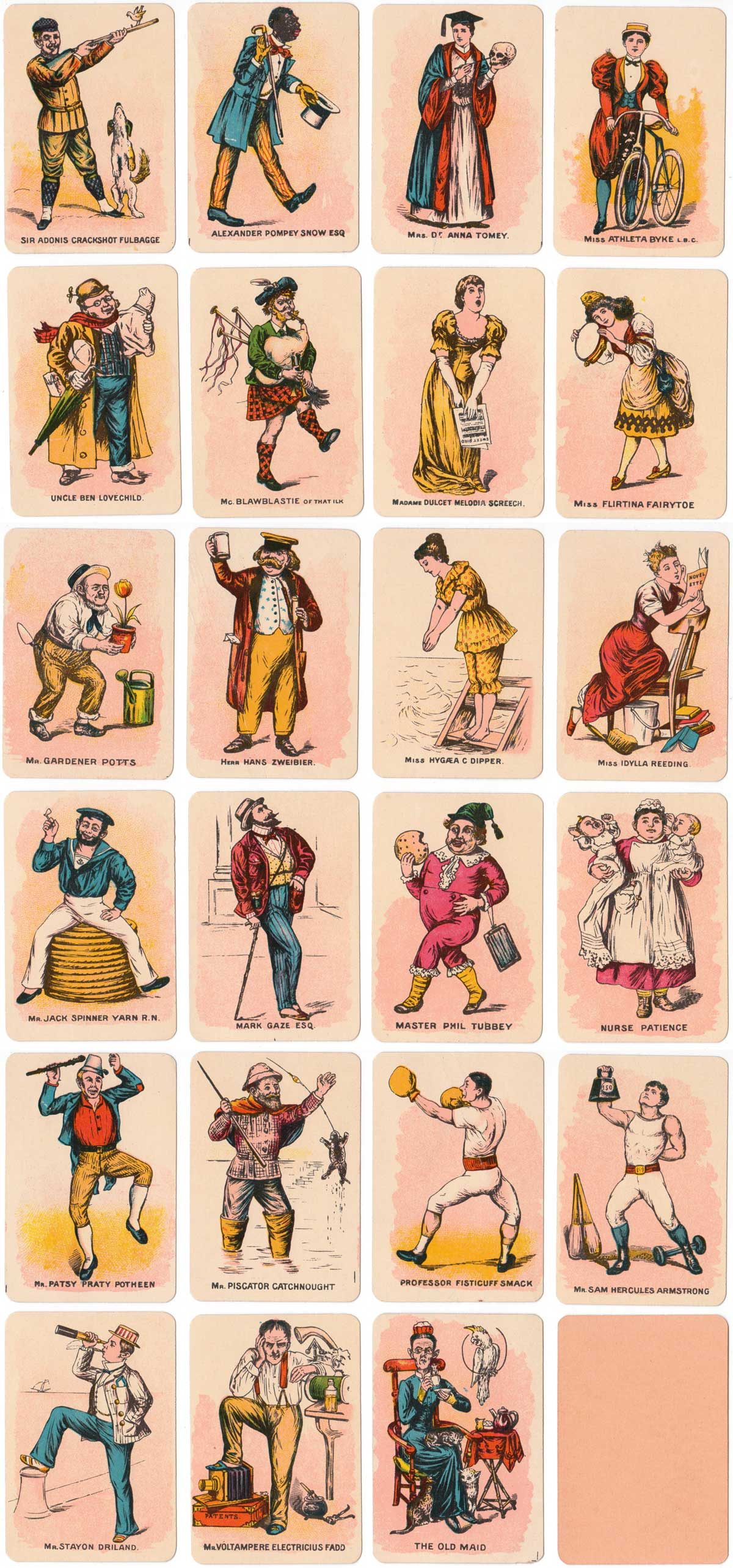 the Jolly Game of Old Maid published by Spear's Games, c.1910