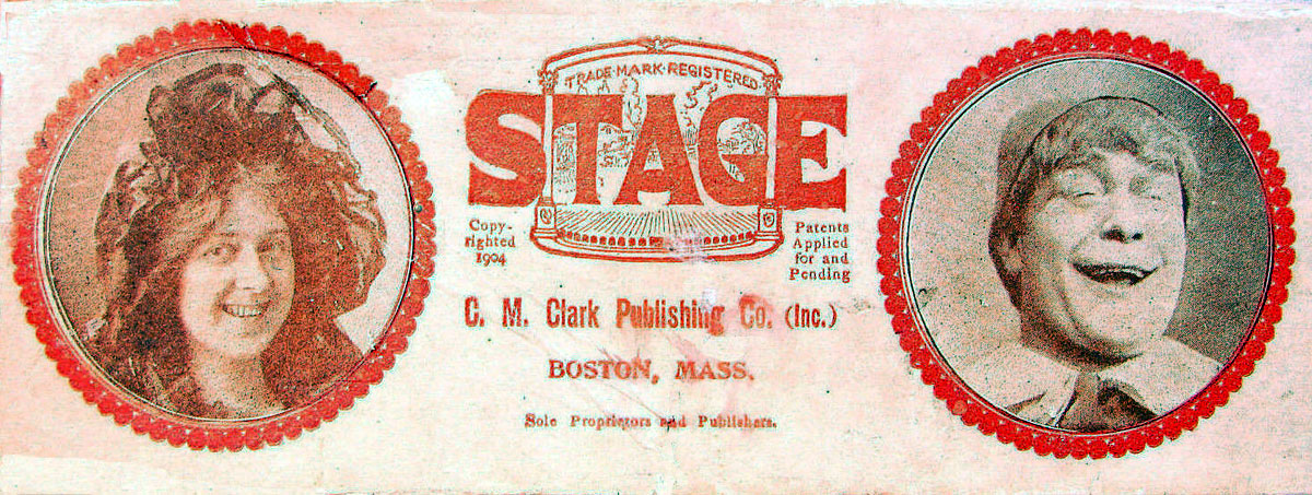 'Stage' card game © 1904 C. M. Clark Publishing Co. Boston, Mass