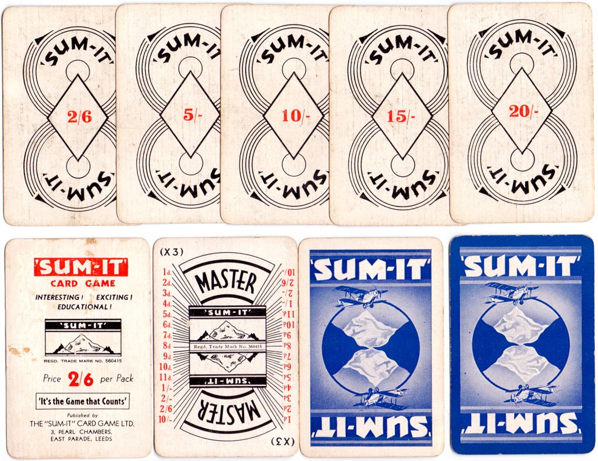 'Sum-it' published by Sum-It Card Game Ltd., c.1935
