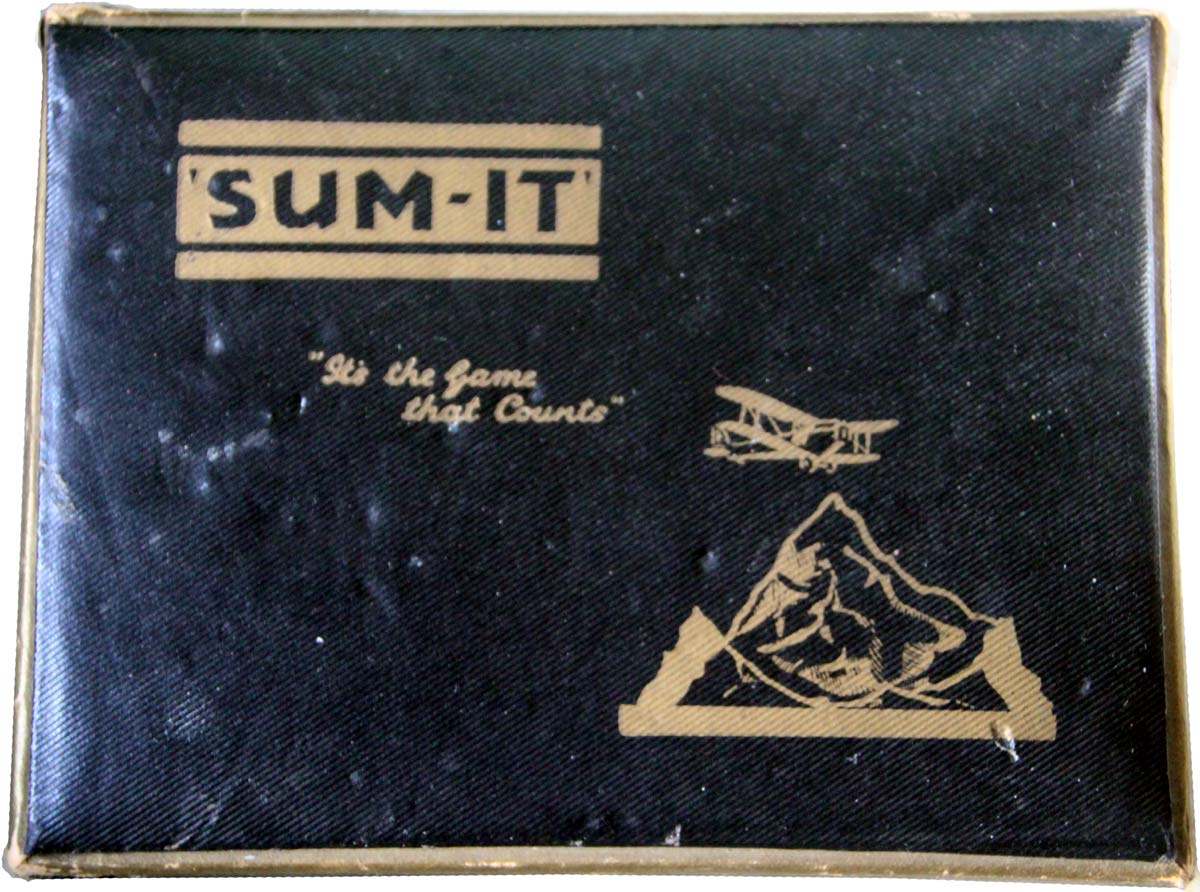 Double set of 'Sum-it' published by Sum-It Card Game Ltd., c.1935