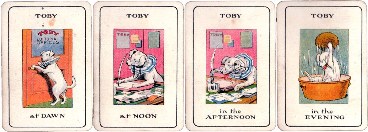 """Toby's Family Playing Cards"" published by G. Heath Robinson & J. Birch Ltd, London, 1920s"
