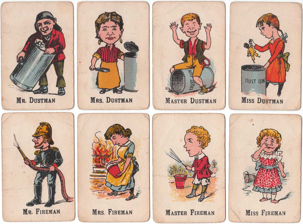 Happy Families card game depicting trades people from 1920s