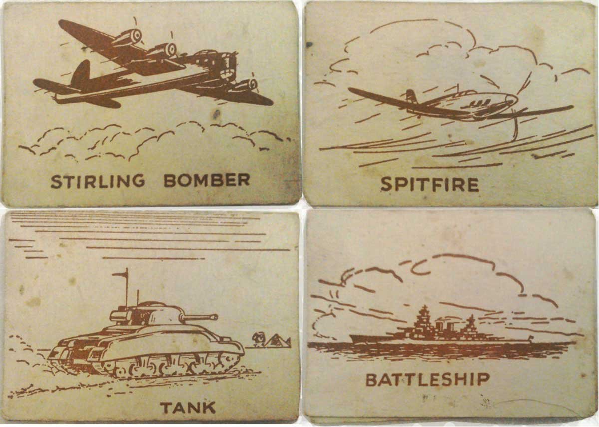 Wartime Snap card game, c.1941