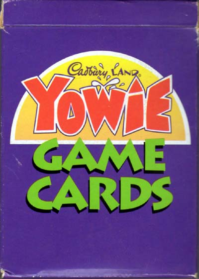 Yowie Game Cards, a promotional item supplied by Cadbury Ltd and published by Kidcorp, c.1999