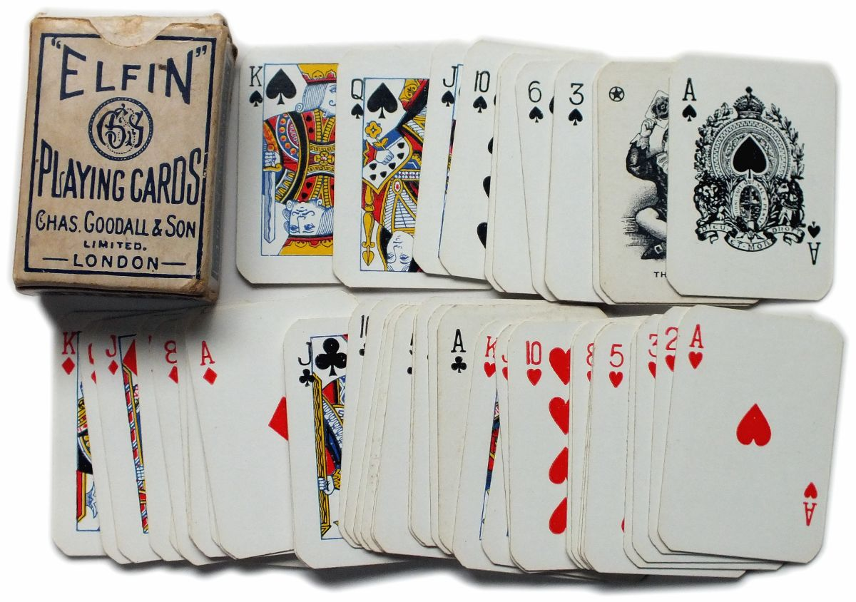 dating goodall playing cards Chas goodall & son ltd london, uk, 1820-1921 in 1922 charles goodall & co ltd were absorbed by thomas de la goodall's playing card.