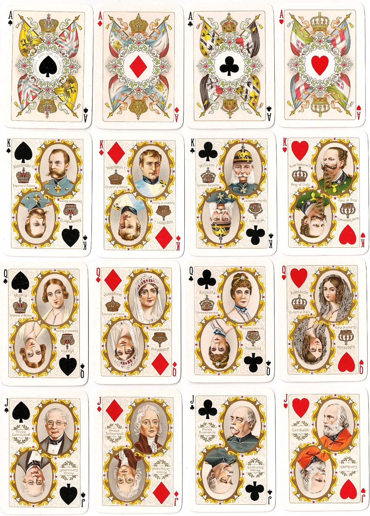 Goodall's Nineteenth Century Playing Cards, c.1900