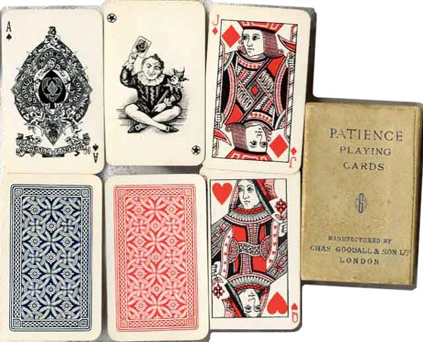 boxed patience set, c.1920