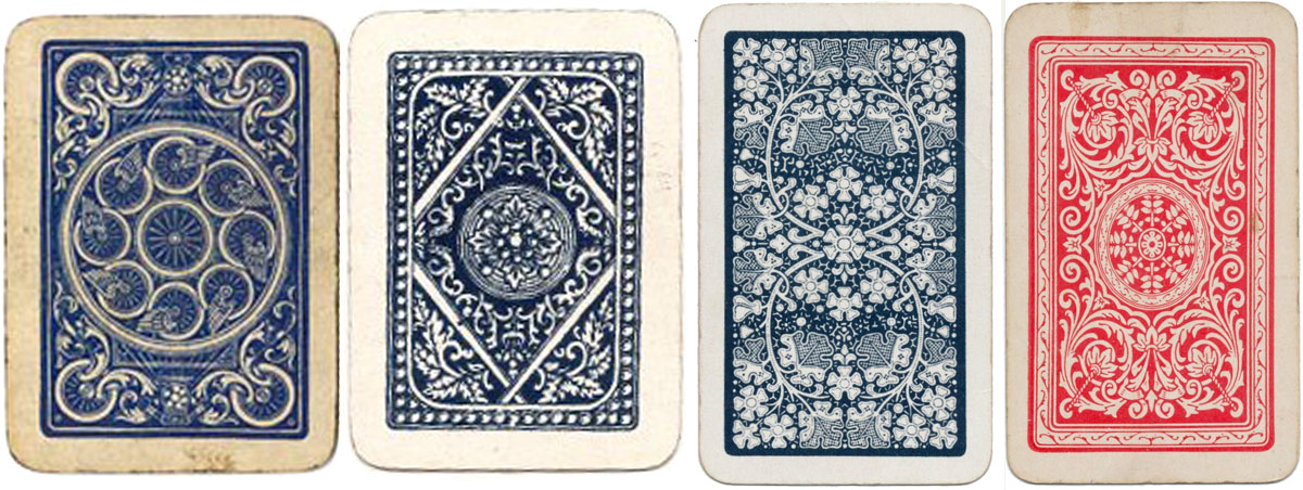 assorted art nouveau and deco back designs from patience or miniature packs