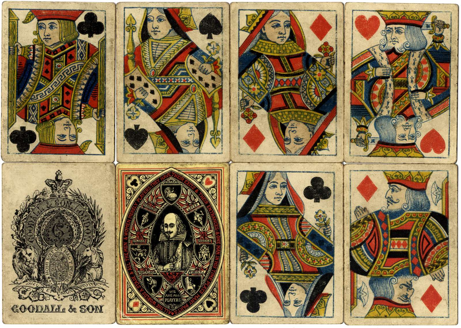 playing cards produced by Goodall & Son in 1864 to celebrate the tri-centenary of Shakespeare's birth