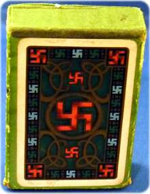 Swastika design playing-cards by Chas Goodall & Sons, c.1925