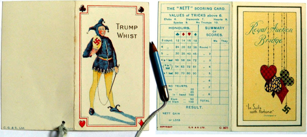 Score cards by Chas Goodall & Sons, c.1925