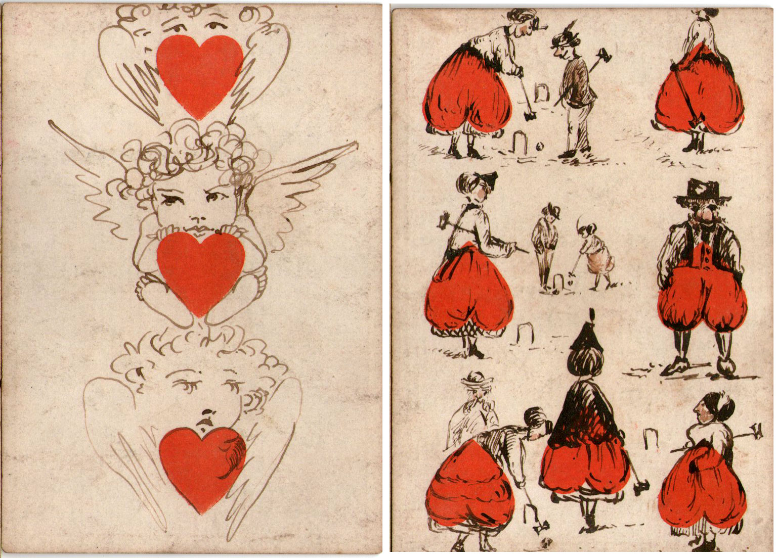 Transformed playing cards on a pack by Goodall & Son, c.1870