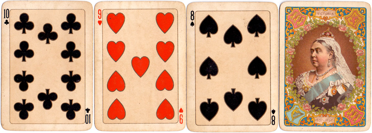 Playing cards commemorating Queen Victoria's Diamond Jubilee, 1897