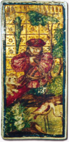 Hand-painted playing card, 15th century