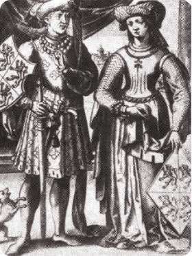 Duchess Joan of Brabant and her husband Wenceslas of Luxembourg who commissioned packs of playing cards in 1379
