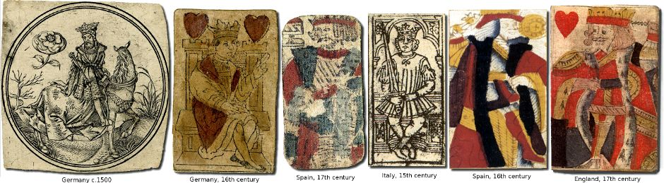 different local interpretations of the generic idea of a 'King' in playing cards