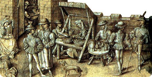 Medieval street traders