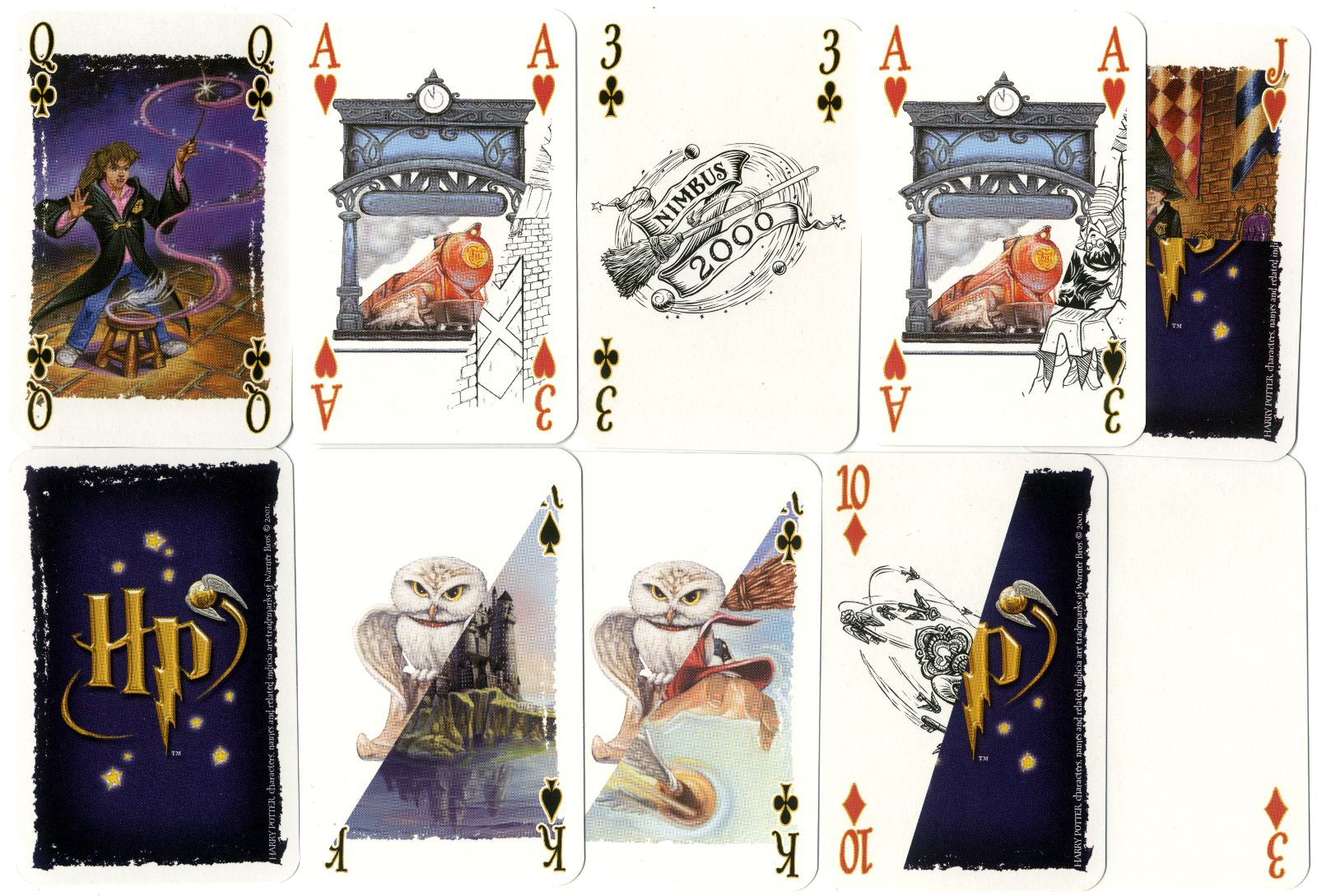Harry Potter Playing Cards for Magic Tricks, made in Belgium by Carta Mundi