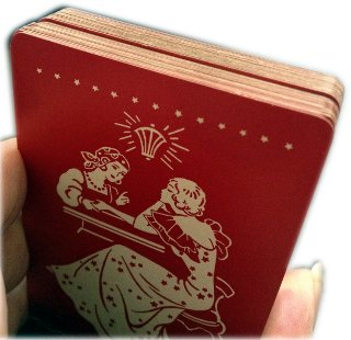 Monotone Playing Cards for Magic Tricks, manufactured by USPCC, c.1952