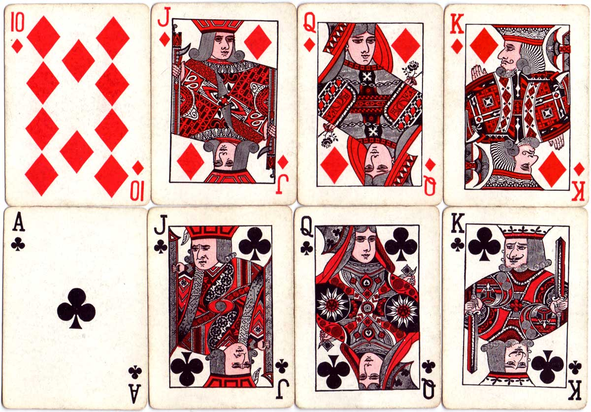 De Land's Nifty playing cards published by S. S. Adams Co, c.1930