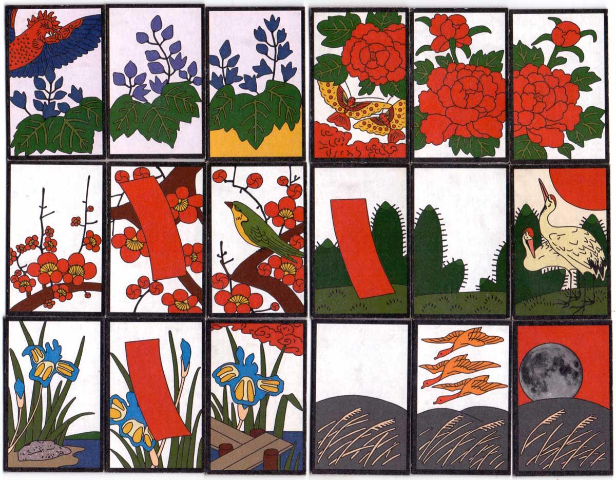 Hana Fuda playing cards hand-made by Patricia Kirk, 2003