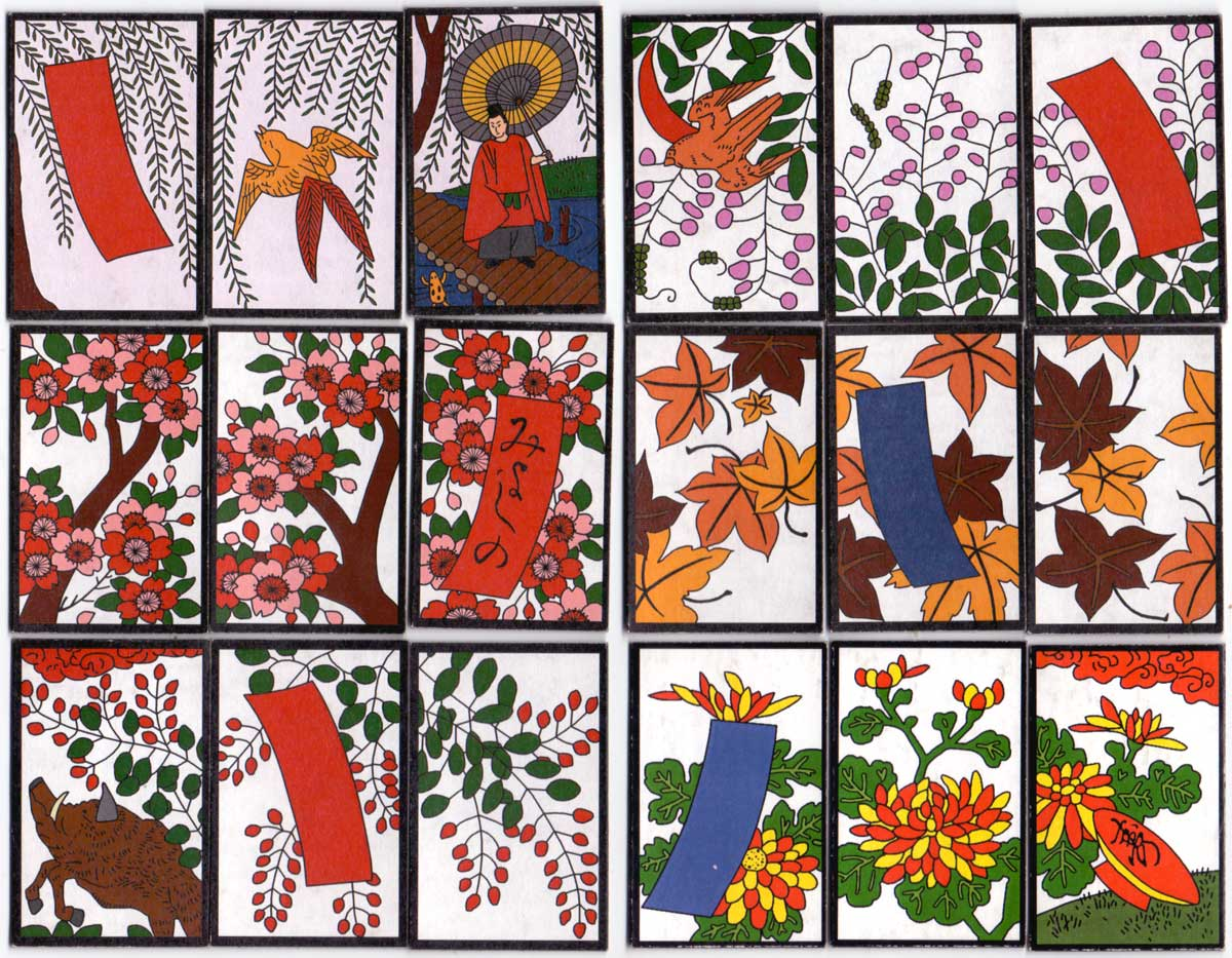 Hana Fuda playing cards hand-made by Patricia Kirk, 2003