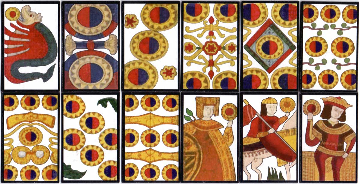 Tensho Mekuri cards hand-made by Patricia Kirk, 2003