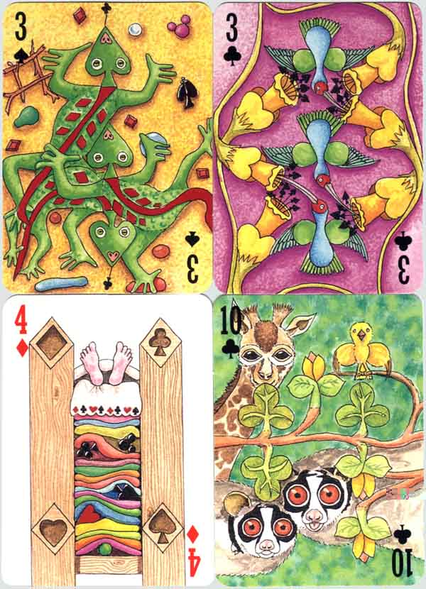 4 cards from 2000Pips Transformation Playing Cards