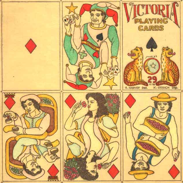 Victoria Playing Cards No.29 designed by Georgina Harvey (1988)
