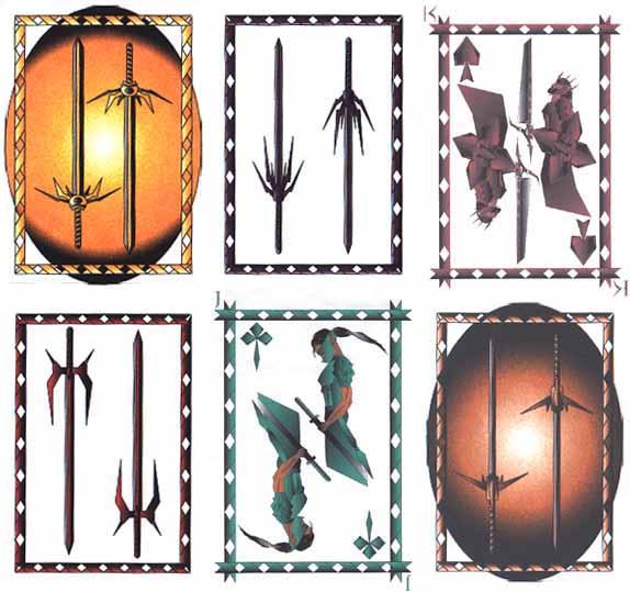Six Sci-Fi Playing Card designs by Shon Gwynn