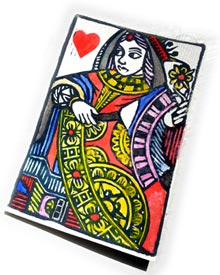 hand-made playing card by Heather Rocchi