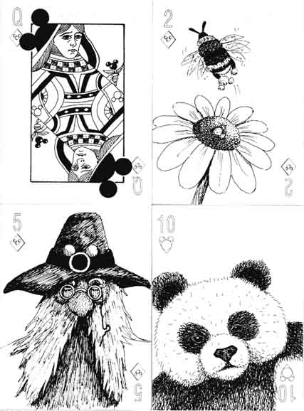 Hidden Mickeys… four cards from the uncoloured edition