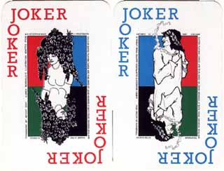 John Newman Colour Cards Aubrey Beardsley Jokers