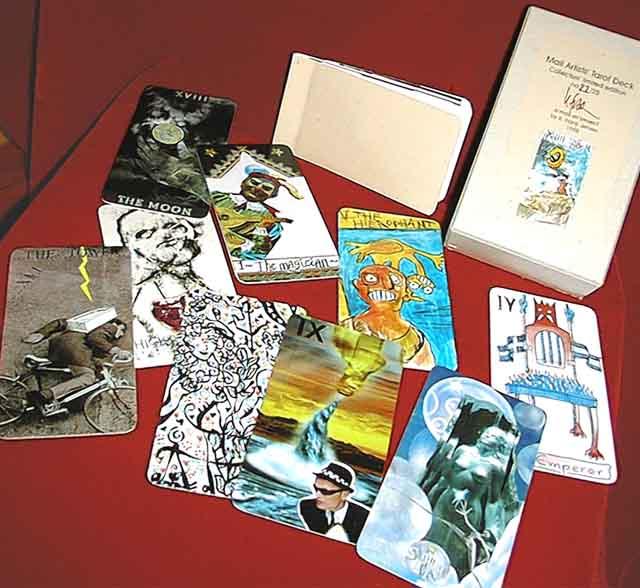 A selection of Frank Jensen's Mailart Cards