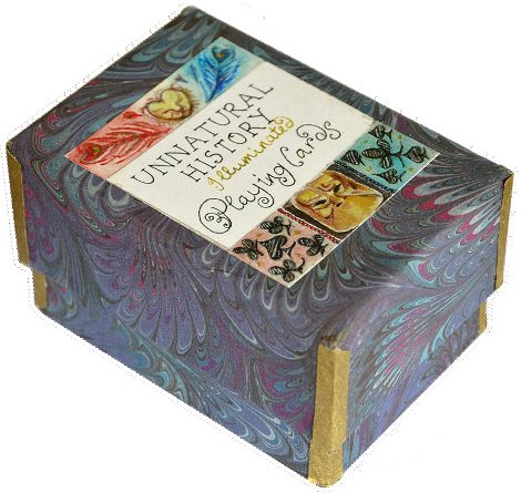 Box from Unnatural History playing cards designed and hand-made by Shelley Fowles