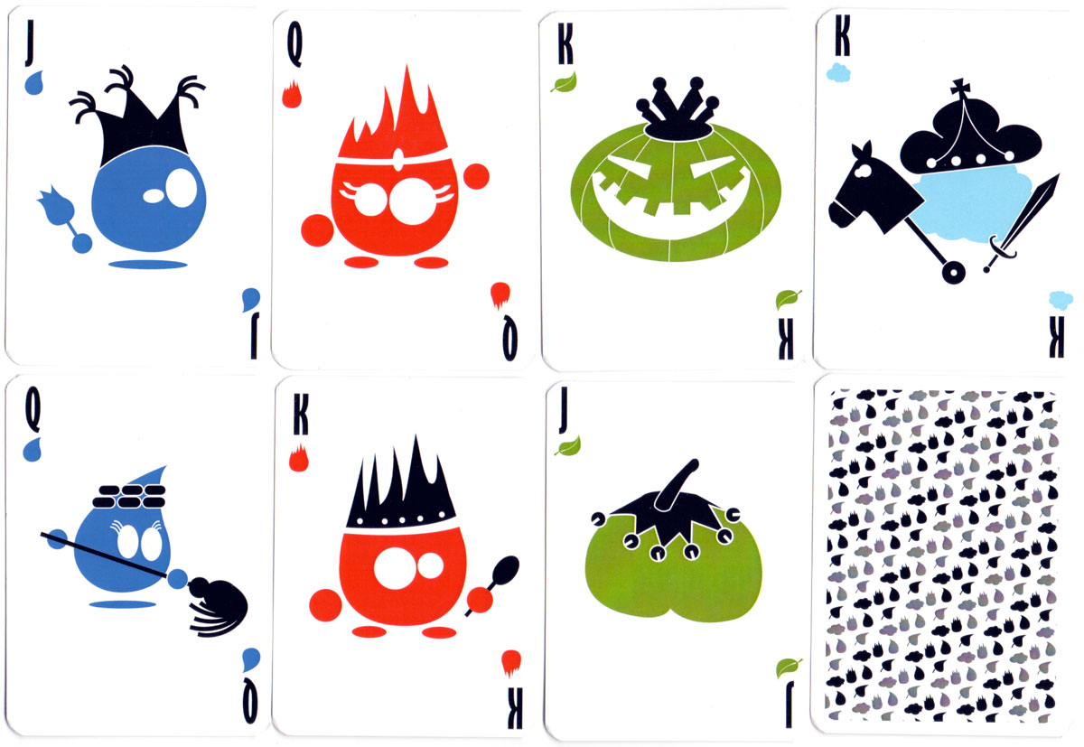 """4 Elementos"" playing cards designed by Marcos Neila Muro celebrating environmental sustainability and ecology, 2014"
